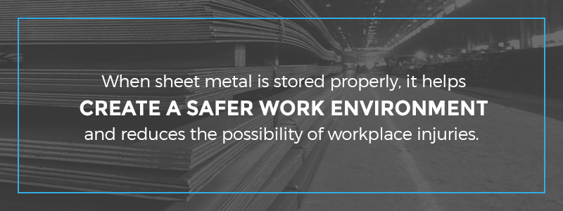 Proper Sheet Metal Storage for Improved Safety