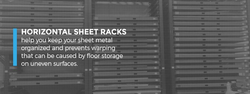 Horizontal Sheet Racks