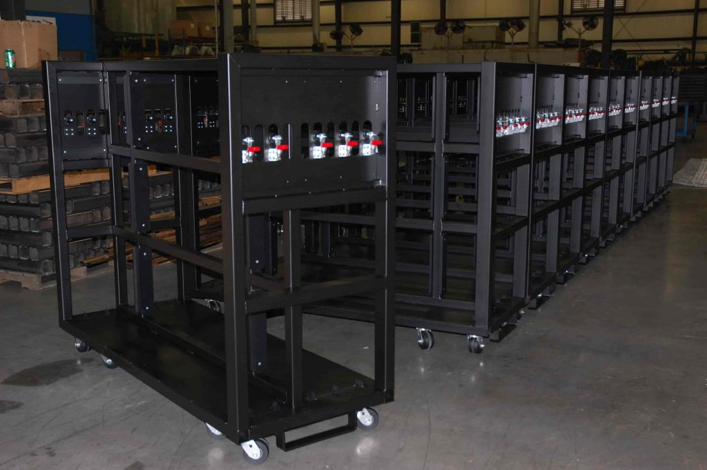 Custom Made Material Handling Racks and Carts